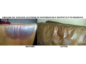 Head grease on leather can be an eyesore